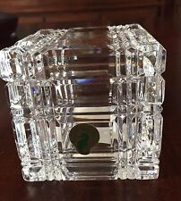 Stunning Rare WATERFORD  Crystal Desk Cube with Lid - 3 1/4""