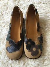 Camper Women shoes Yellow Suede Fall Leaves sz 36