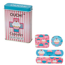 NUOVO ouch! CUPCAKES cerotti in First Aid Tin
