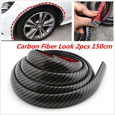2pcs Body Kits Look Carbon Fibre Car Fenders Flares Wheel Eyebrow Protector Lip