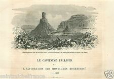 Captain John Palliser Expedition Rocky Mountains Canada GRAVURE OLD PRINT 1860