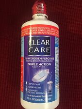 Clear Care Contact Lens Cleaning Disinfecting Solution Triple Action 12oz