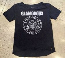JUICY COUTURE Glamorous Tee RAMONES VINTAGE SZ S MUSIC ROCK & ROLL Charcoal