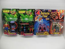 ToyBiz Marvel Hulk Fantastic Four Figure Lot - Dragon Man Leader Doc Sampson