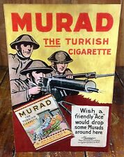 Murad The Turkish Cigarette Soldiers in Hard Hats with Guns Tobacco Counter Sign