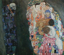 Gustav Klimt Death and Life Giclee Canvas Print Paintings Poster Reproduction Co