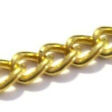 3 Meters Gold Plated Cable Chain 6x4mmx1mm - A5479
