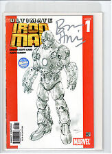 ULTIMATE INVINCIBLE IRON-MAN #1 WIZARD VARIANT SIGNED HIGH GRADE