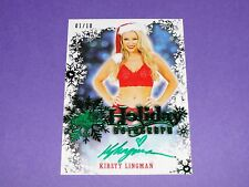 2014 Benchwarmer KIRSTY LINGMAN Holiday Green Foil On Card Autograph Variant/10