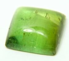Q-52 Natural green tourmaline,6.85ct 11x12x5mm,cabochon, square cab Brazil