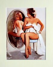 "Gil ELVGREN stampa montata-PIN-UP ART-e16 14"" x 11"""