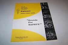 VINTAGE CATALOG #1752 - FALCON MANUAL SIGNAL HORNS