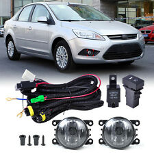 New Pair Fog Light Lamp + Wiring Harness Sockets + Switch for Ford Focus Nissan