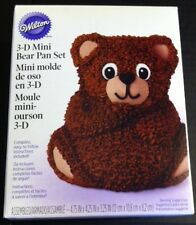 Wilton mini Stand Up Bear 3D Cake Tin Baking Pan new complete