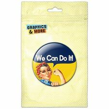 Rosie The Riveter War Poster Pinback Button Pin Badge