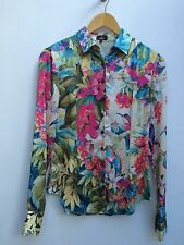 GORGEOUS LADIES SILK BLOUSE, SHIRT BY LIBERTY OF LONDON. SIZE UK10, SMALL. VGC!