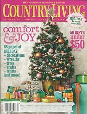 Country Living magazine Christmas Festive decor Holiday trees Wreaths Crafts