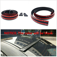 Flexible Soft Rubber Black Car Rear Roof Protector Spoiler Wing Lip Trim Sticker