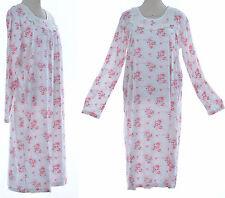 CHEMISE DE NUIT Femme MANCHE LONGUE COTON XL 2XL 46 48 ROSE CLAUDINE ZAZA2CATS *