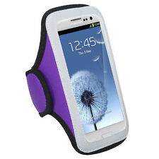 GYM WORKOUT NEOPRENE ARMBAND PURPLE MOTOROLA DROID 4 ATRIX HD MB886 XT894