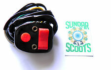 INDIAN GP.  STANDARD  HORN/LIGHT SWITCH.BLACK METAL CASING WITH RED BUTTONS