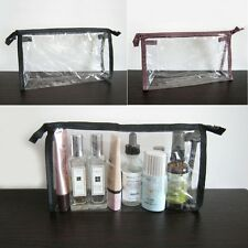 10/5pc PVC Clear Transparent Case Cosmetic Make Up Bag Toiletry Travel Zipper