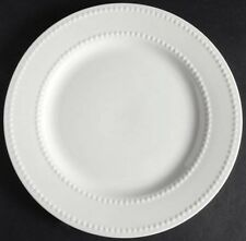 NIB Ciroa Chef's Collection White Dinner Plates, Embossed, Porcelain, Set Of 4
