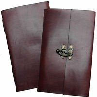 Real Leather Handmade Sketchbook Diary Journal Notebook with Clasp-Various Paper