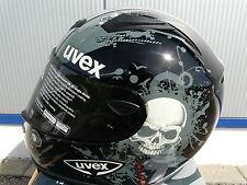 Motorradhelm  Carbonhelm  Uvex Uvision Grösse schwarz-weiss -shiny UVP 399,99