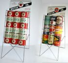 Oil Can Display Rack Esso Gulf Mobil Phillips Polly Sinclair Shell Texaco Pure