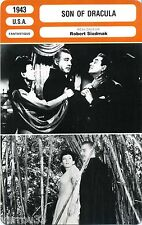 Fiche Cinéma. Movie Card. Son of Dracula (USA) Robert Siodmak 1943