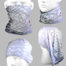 Fish Scales A219 Free Style Tubular Scarf Mask Bandana Hood 300-Colored Options