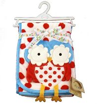 Fantastic Soft Minky Baby Blanket 3D Owl Design by Lily & Jack 100 x 75 cm