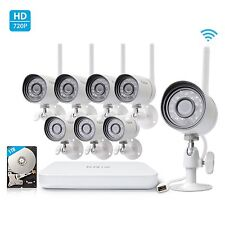 Funlux 8CH NVR 8 Wireless Outdoor 720p IP Home Security Camera System 1TB HDD