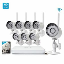 Funlux 8CH NVR 8 WirelessOutdoor 720P IP Home Security Camera System 1TB HDD