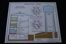 V248 Affiche scolaire papier Rossignol  3 ADDUCTION EAU 4 MENUISERIE INTERIEURE