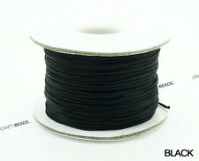 0.8mm Chinese Knot Nylon Cord Shamballa Macrame Beading Kumihimo String 50 Yards