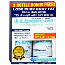 Lipozene Diet Pills Maximum Strength Fat Loss Formula 1500mg 180 Capsules 60 x 3