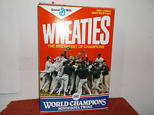 VINTAGE 1987 MINNESOTA TWNS WORLD CHAMPIONS WHEATIES CEREAL BOX...#5