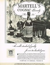 1934 BIG Original Vintage Martell Cognac Brandy Bottle Photo Print Ad d