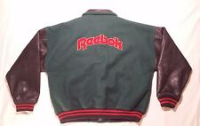 Vintage Reebok Varsity Lettermans Jacket, Large L, Wool and Leather