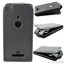 Magnetic Flip Hard Leather Hard Back Case Cover Holster For Nokia Lumia 925 Hot