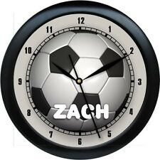 Personalized Boys  Soccer Ball Wall Clock Custom Colors Avalable Gift