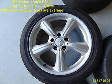 GENUINE Mercedes 5 SPOKE Wheel with TYRE in 17x8.5inch (Rear)