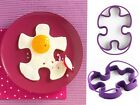 Mastrad Purple Jigsaw Silicone Egg Shaper / Pancake Ring - Set of 2