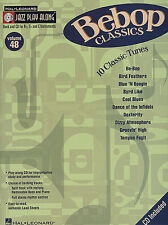 Jazz Play Along Bebop Classics Clarinet Sax Saxophone Flute Woodwind Music Book