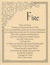FIRE INVOCATION Parchment Page for Book of Shadows!