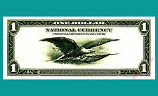 B199 ANA 1995 BEP Souvenir Card $1 Federal Reserve Bank Note 1918 back Mint