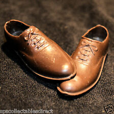 ☆ Original Palitoy Action Man ☆ British Officer's Brown Shoes c1966-84 ☆