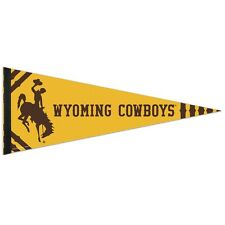 "WYOMING COWBOYS ROLL UP PREMIUM FELT PENNANT 12""x30"" BRAND NEW WINCRAFT"